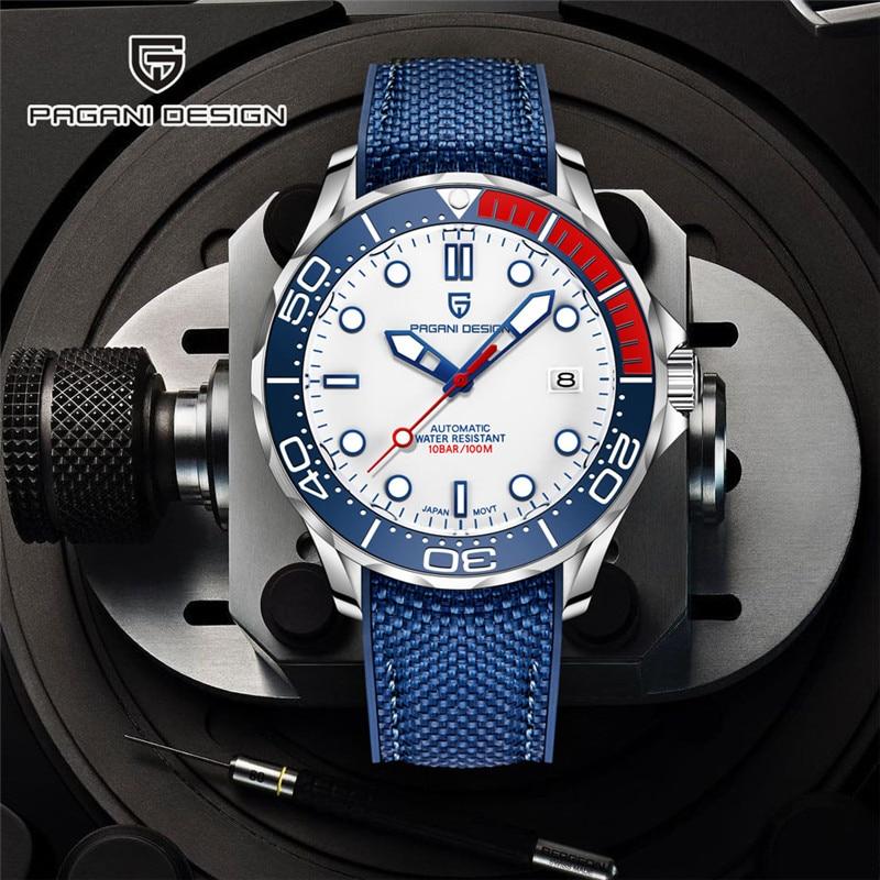 PAGANI DESIGN New 007 Commander Men's Mechanical Watches Top Brand Luxury Watch Men 100M Automatic Waterproof Fashion Wristwatch