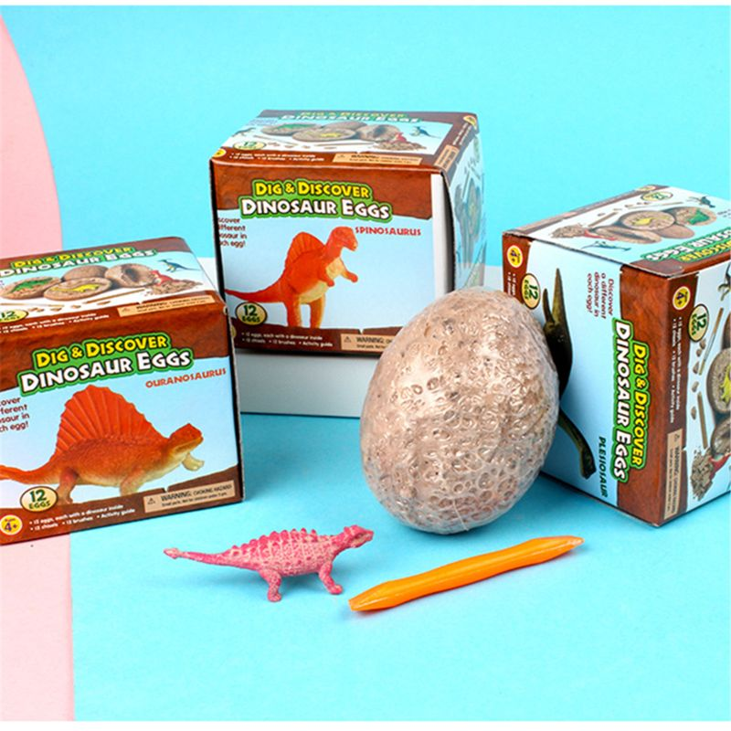 12 dinosaur egg toys. Best science learning activities for children, gifts and party supplies. A doz