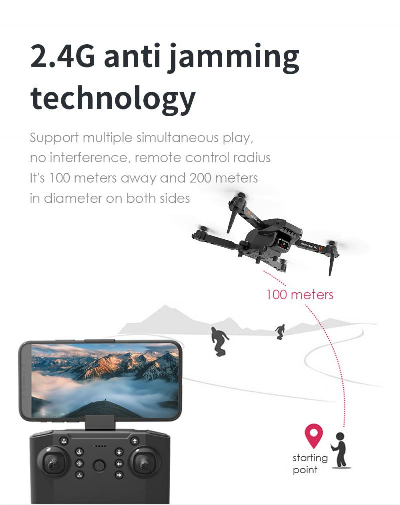 L703 Folding Drone 4K HD Aerial Photography Dual Camera Quadcopter Remote Control Aircraft Consumer Camcorders