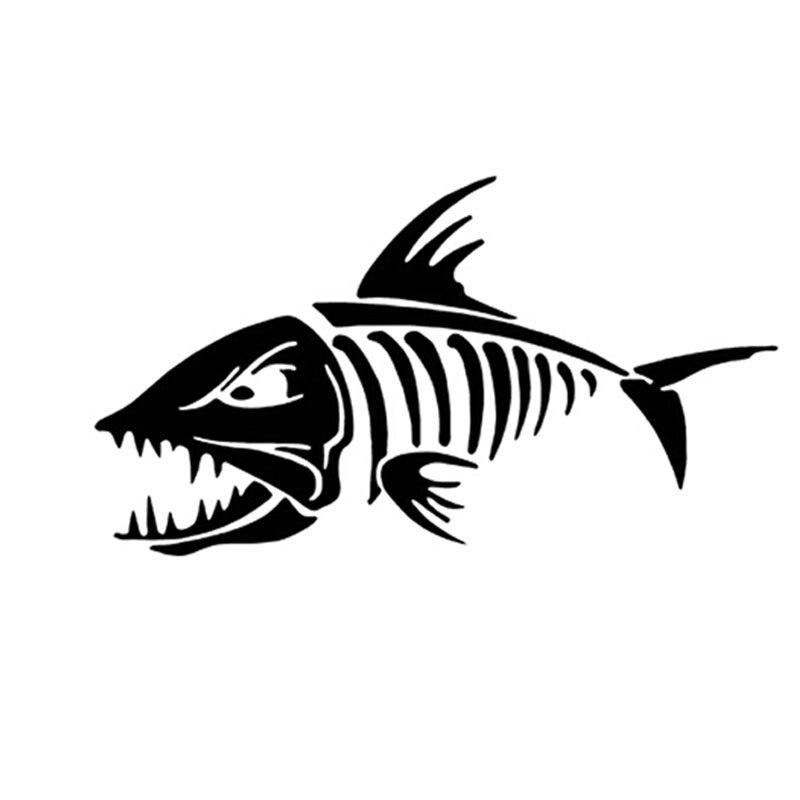 Креативные автомобильные наклейки «морские рыбные кости», Переводные картинки «рыбья кость», индивидуальные мотоциклетные автомобильные ...