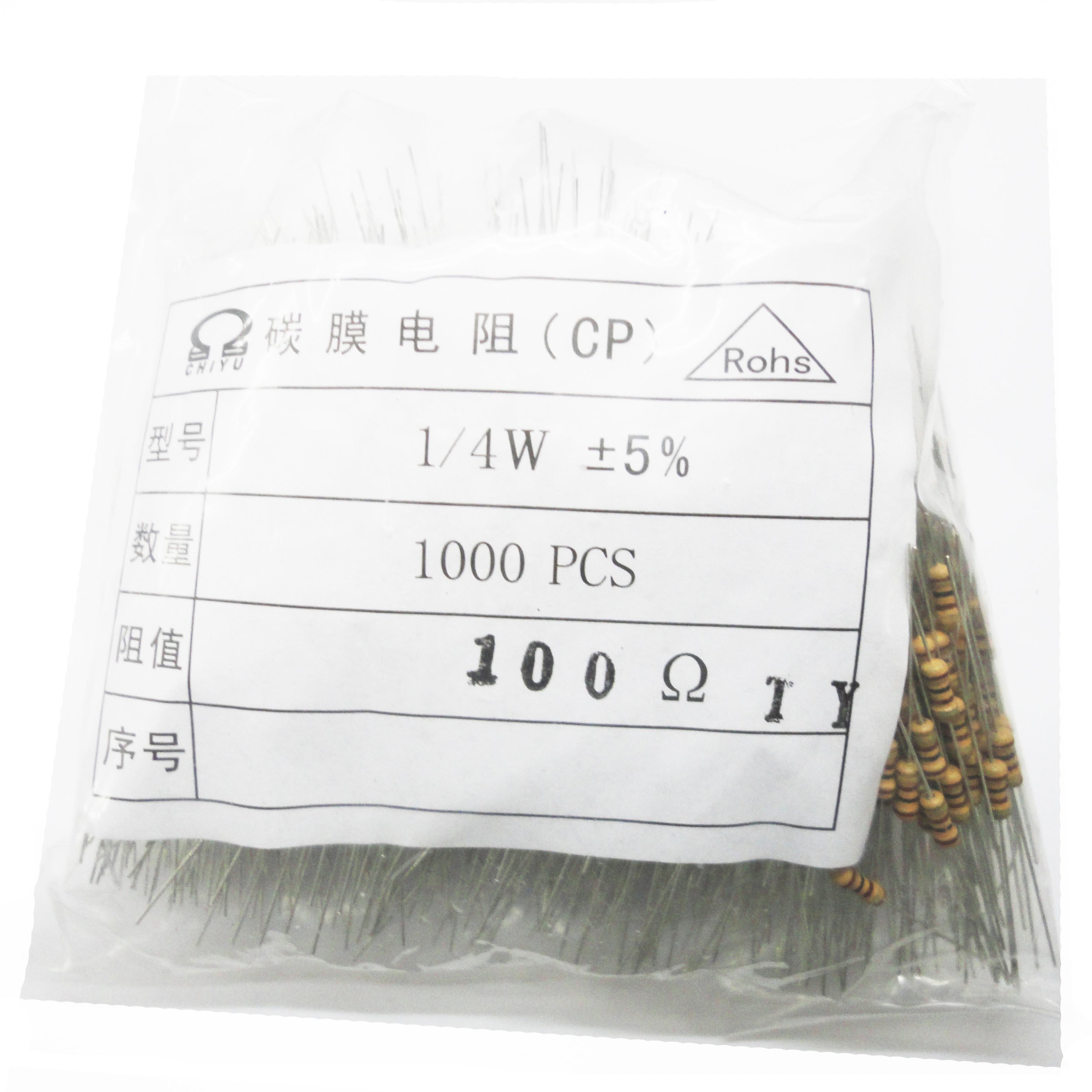 1000 unids/lote 1/4W 180R 180 nueva marca de película de carbono resistencia envío gratis