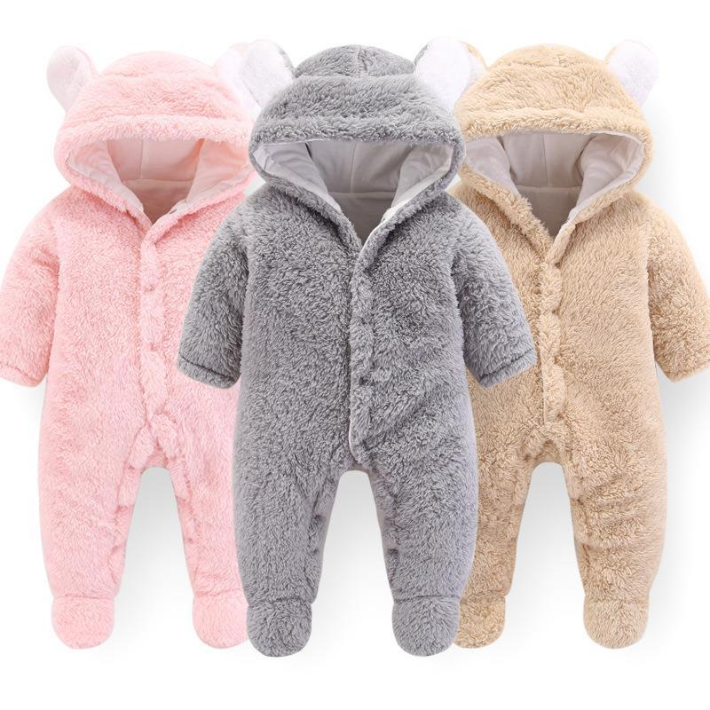 Neueste Russland Baby Kostüm Strampler Kleidung Kalten Winter Junge Mädchen Bekleidung Verdicken Warme Komfortable Reiner Baumwolle Neugeborene Kleidung