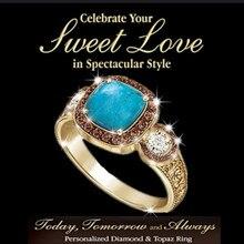Klassieke Vierkante Blauwe Turkoois Stone Engagement Ring Luxe Champagne Crystal Bruid Belofte Trouwringen Voor Vrouwen Boho Sieraden