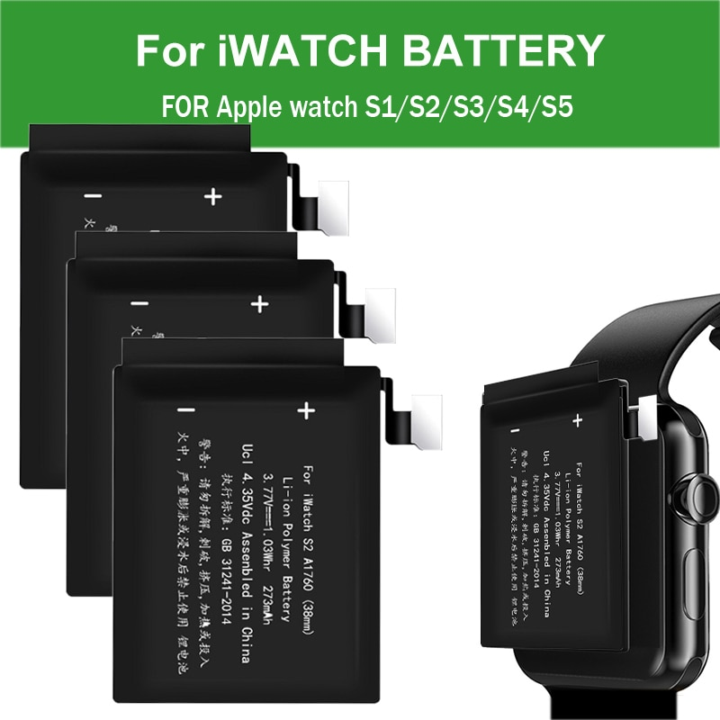 Batería para Apple Watch S5 S4 S3 S2 S1 Series 38mm 42mm,...