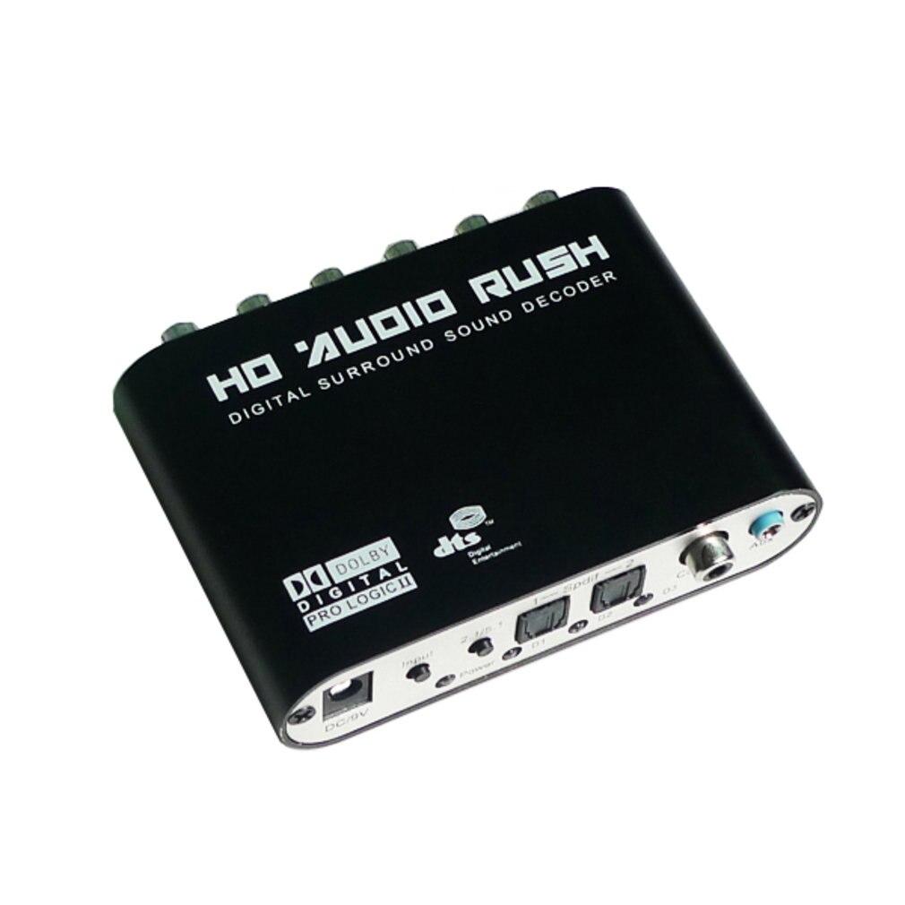 الرقمية 5.1 محلل شفرة سمعي دولبي Dts/Ac-3 البصرية إلى 5.1 قناة RCA التناظرية محول الصوت محول الصوت مكبر للصوت محول جديد