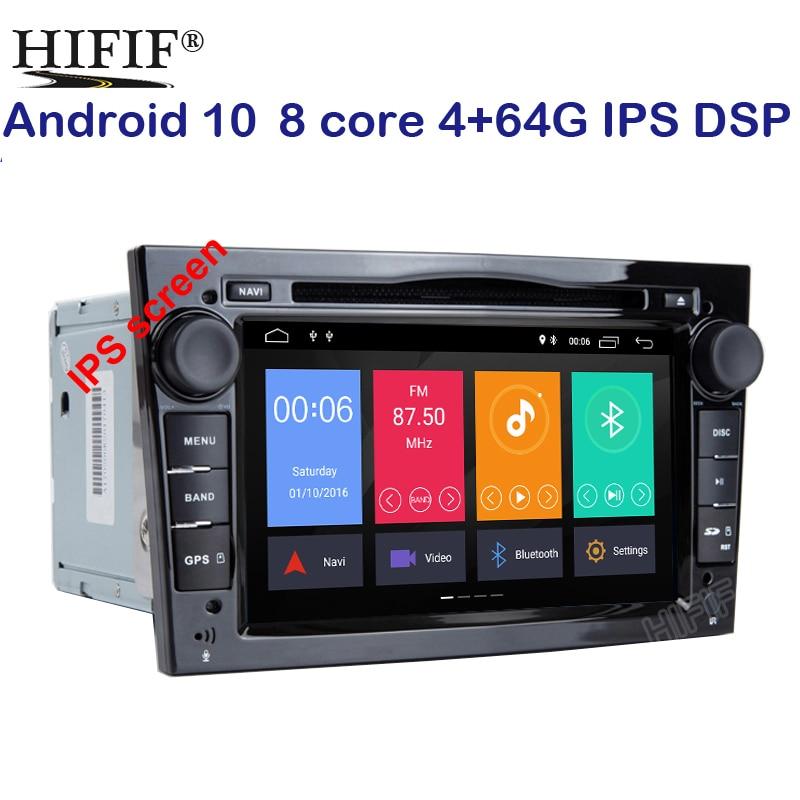 Ips android 10 octa core 2din carro player dvd, carplay para opel corsa vectra c d meriva vivaro sinal tigra rádio gps navi 4g wifi