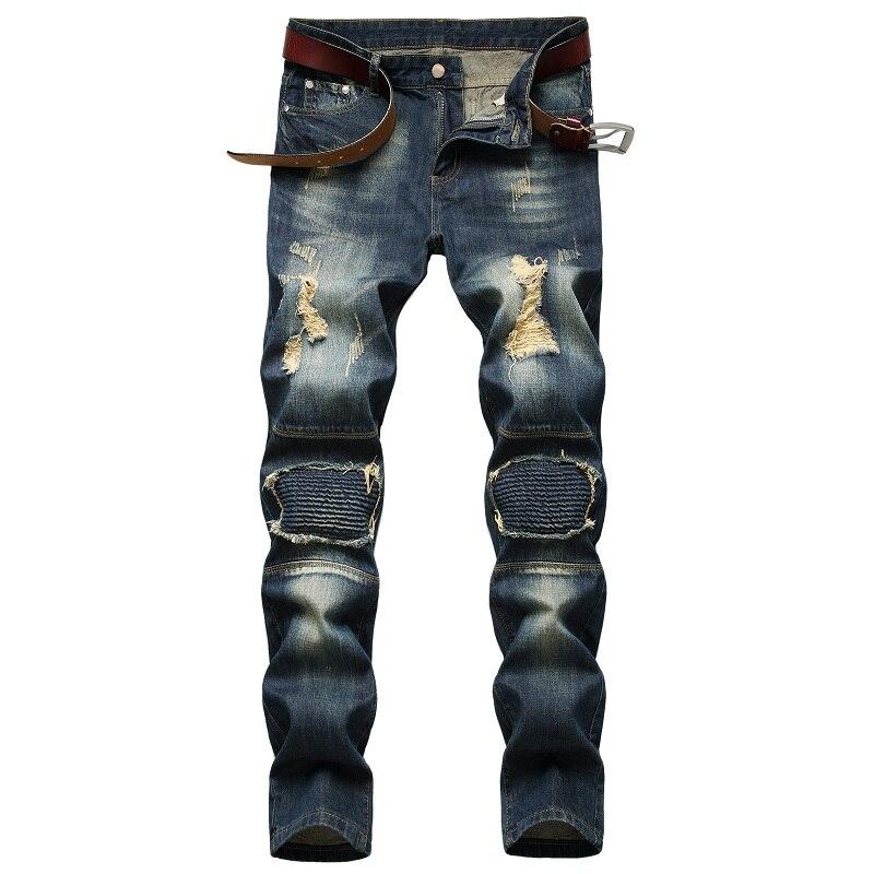 джинсы штаны мужские брюки мужские джинсы для мужчин Новинка 2021, Осень-зима, Новые мужские джинсы, модные индивидуальные ностальгические рв...