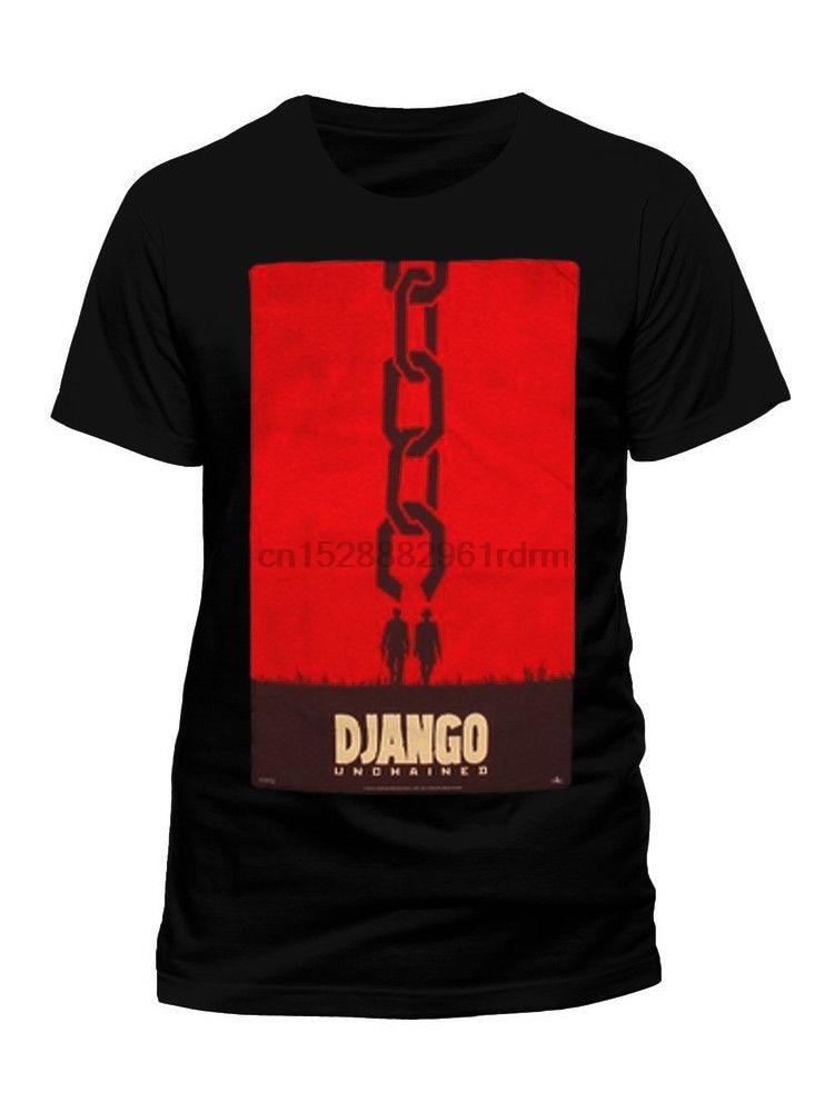 django-unchained-chain-movie-poster-tarantino-western-cowboy-black-mens-t-shirt-summer-o-neck-tee-free-shipping-cheap-tee