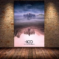 the 100 tv science fiction movie canvas painting posters and prints cuadros wall art pictures for living room bedroom unframed