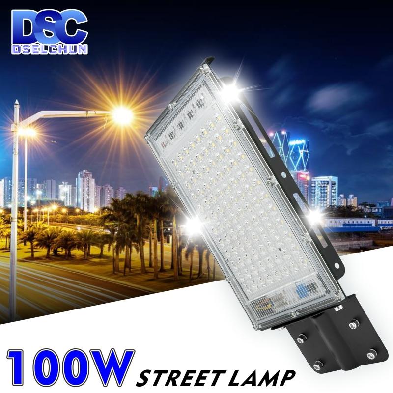100W LED Street Light AC 220V-240V Outdoor Floodlight Spotlight IP65 Waterproof Wall Light Garden Ro