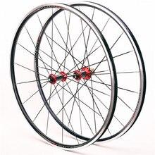 Vélo de route escalade roue ensemble ultra léger en fiber de carbone moyeu roulement course 700C route Bmx vélo roue ensemble V frein 100/130mm
