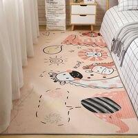 Мультяшные коврики для спальни, для девочек, нескользящий коврик, моющийся коврик для гостиной, Детский напольный коврик с милым рисунком п...