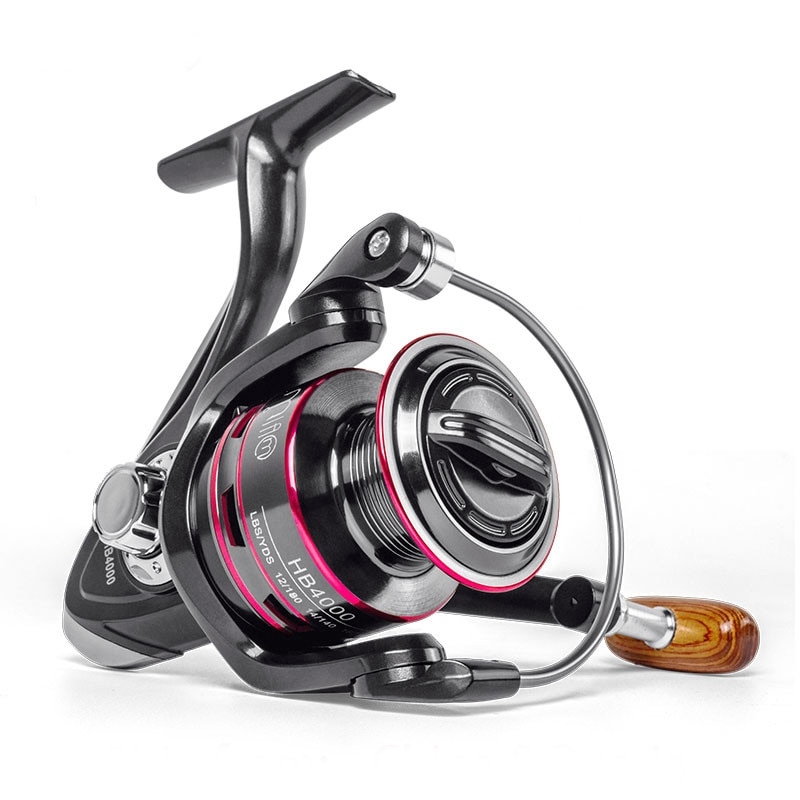 JIMITU-carrete de pesca giratorio, molinete de 8KG, máximo de arrastre, accesorios para...