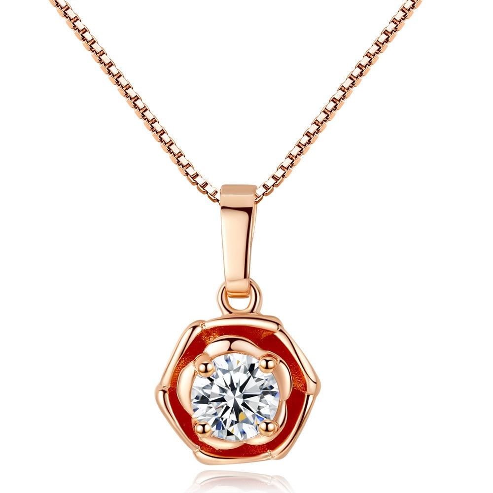 TSHOU403-قلادة زهرة صغيرة مرصعة ، زهرة برية ، سلسلة الترقوة ، مجوهرات صغيرة ، رابط هدية للمشتري