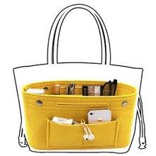Obag Felt Cloth Inner Bag Women Fashion Handbag Multi-pockets Storage Cosmetic Organizer Bags Luggag