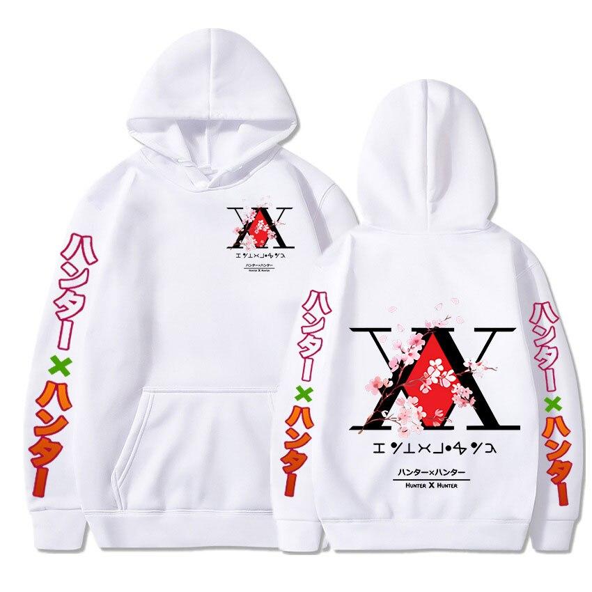 Толстовки с капюшоном с изображением аниме Hunter X Hunter, Уютная толстовка с капюшоном, топы с принтом графического логотипа, пуловеры, толстовк...