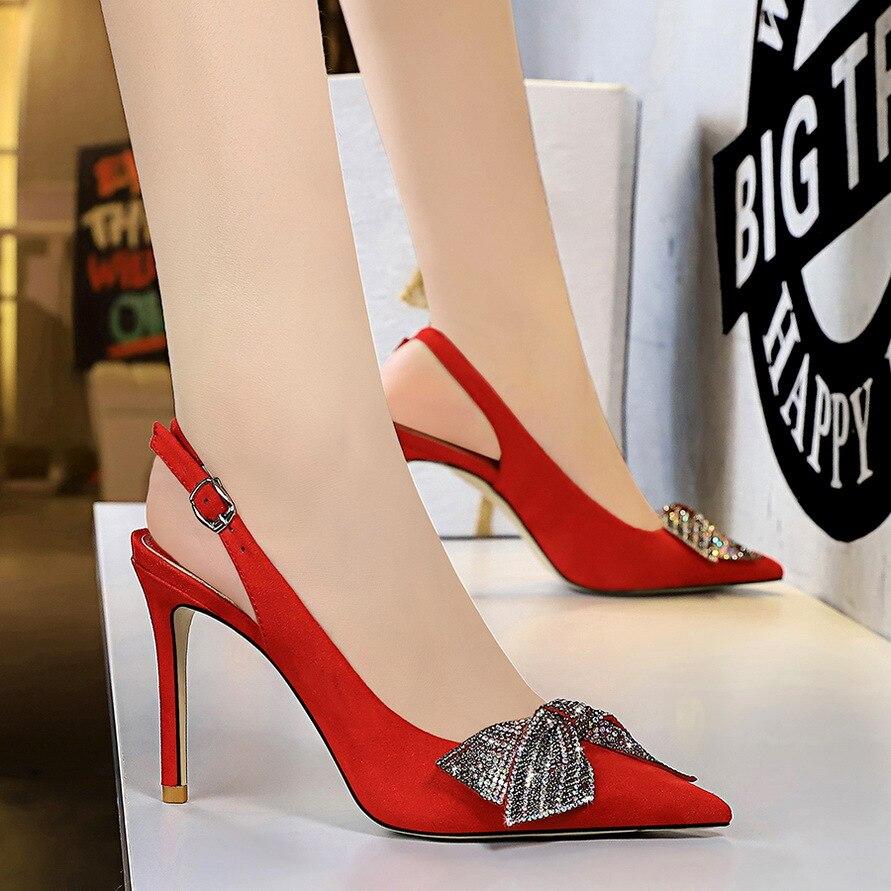 Zapatos De tacón alto De ante para Mujer, Tacones sexys De fiesta,...