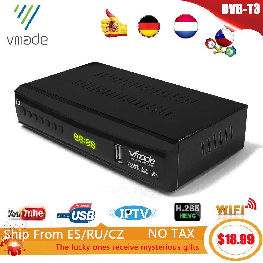 2020 newest DVB T3 DVB T2 terrestrial receiver HD 1080P TV Tuner DVB T2 Decoder H.265 support youtube USB WIFI Digital receiver