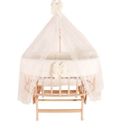 Portable Baby Crib Kid Bed Duvet Pillow Mosquito Net Rocking Chair Bassinet Swing Mini Cradle Hammock Basket Side Furniture Tool