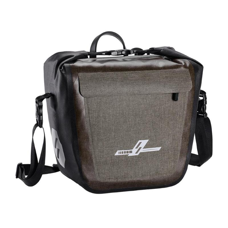 Bolso de sillín de bicicleta a prueba de agua completo 19L bolso trasero del estante de la bicicleta Pannier del equipaje