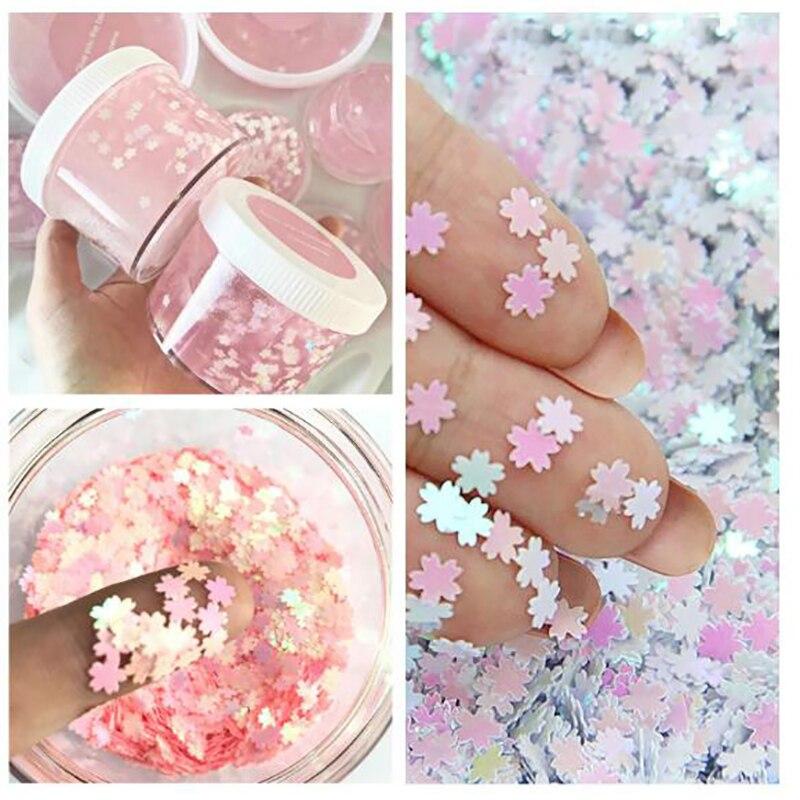 DIY Material de artesanía Sakura lentejuelas brillantes resina UV joyas de decoración accesorio de relleno Slime mezcla Decoración Accesorios de juguete