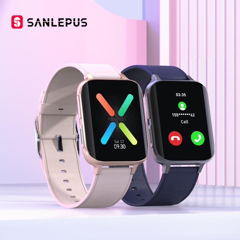 SANLEPUS 2021 New Smart Watch Men Women Bluetooth Call Watch Waterproof Smartwatch MP3 Player For OPPO Android Apple Xiaomi