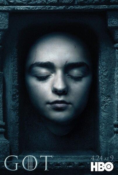 Arya Stark, Juego de tronos, TV estadounidense Vintage Retro de la canción de hielo y fuego, afiche decorativo DIY, lienzo de pared, pegatinas, pósteres casa Art