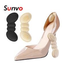 Scarpe protezione tallone Pad per donna tacchi alti riduttore di dimensioni adesivo tallone fodera impugnatura antidolorifico inserto per scarpe cuscino adesivo per scarpe