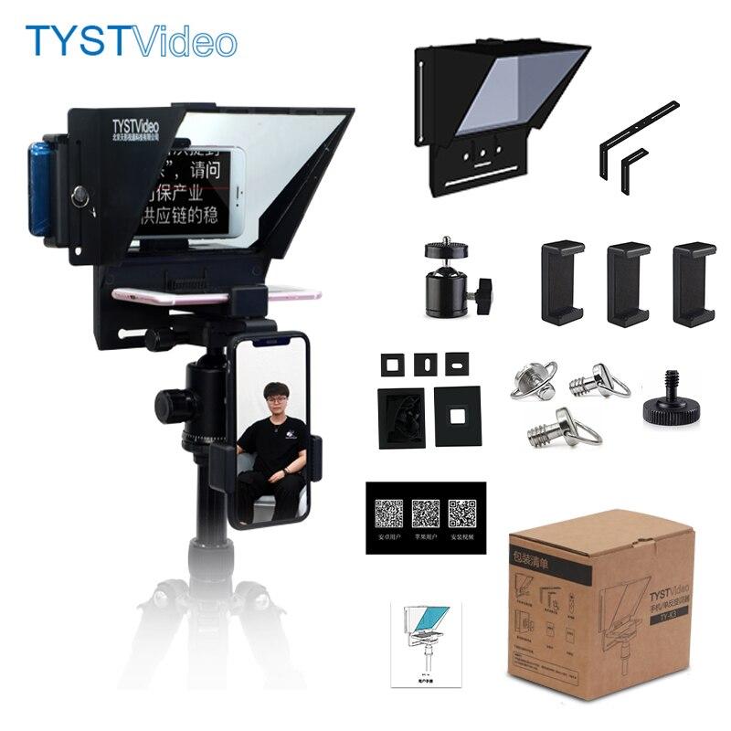 K3 mini teleprompter portátil móvel prompter para smartphone telefone dslr câmera com controle remoto para gravação de vídeo ao vivo