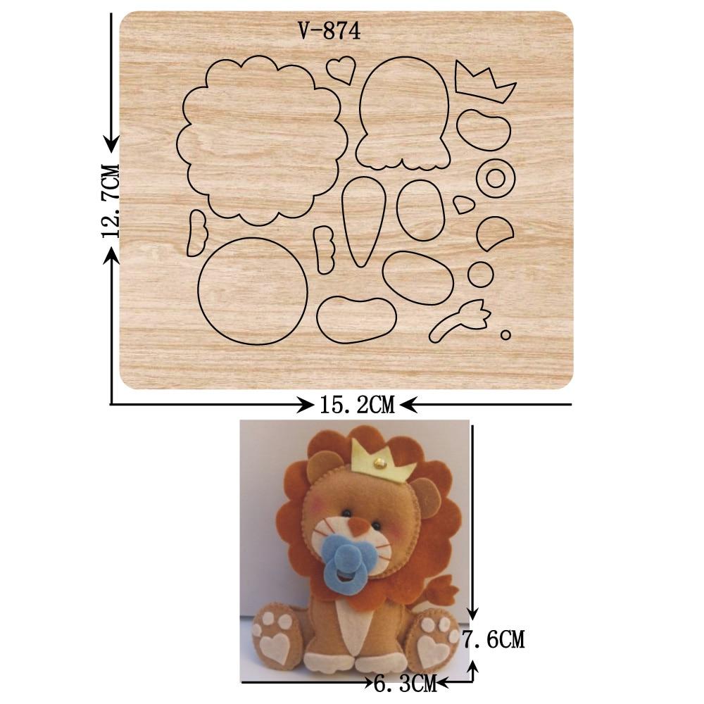 Troqueles de madera León nuevos troqueles de corte para álbum de recortes/varios tamaños/V-874