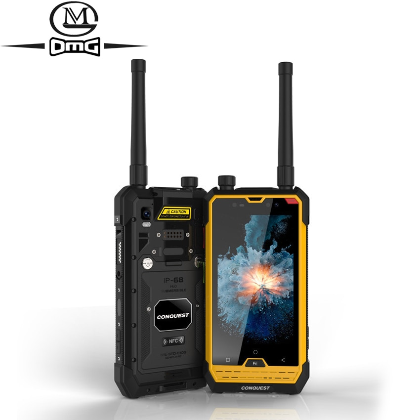 CONQUEST S1 IP68 shockproof mobile phone NFC OTG Walkie Talkie MTK6753 octa core 3GB + 32GB Android 6.0 4G Rugged Smartphone