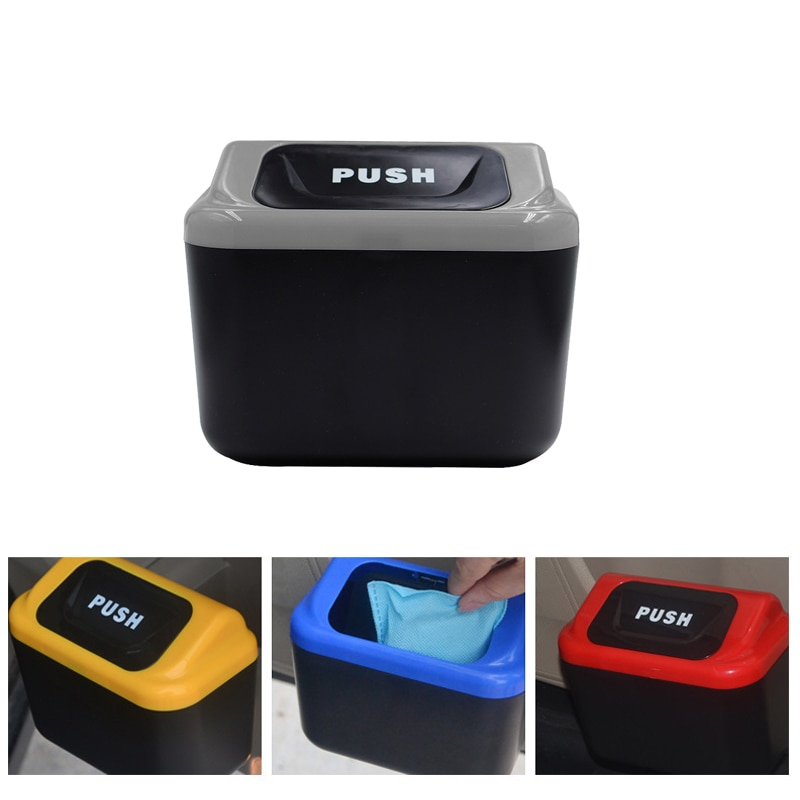 car trash Car Trash Can Garbage Attractive Bin Auto Organizer Storage Box Rubbish Gargage Holder Acc