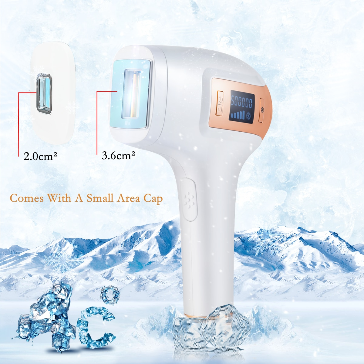 Uaike  Epilator 500,000 Flashes Permanent IPL Laser Hair Removal Machine Upgrade Ice Cooling Function Facial Body Hair Remover enlarge