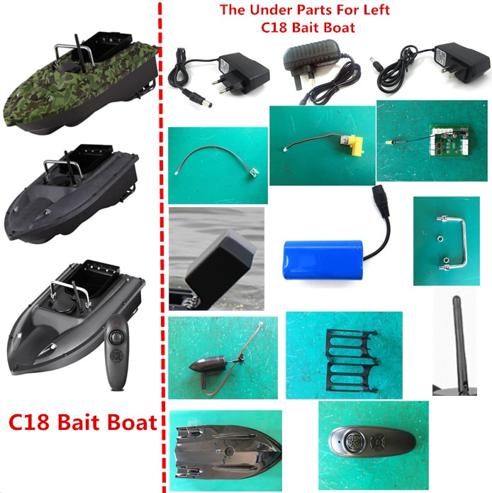 7.4V 5200mAh Battery/Remote Control/Recevier/Handle/Charger/Motor for C18 RC Remote Control Fishing