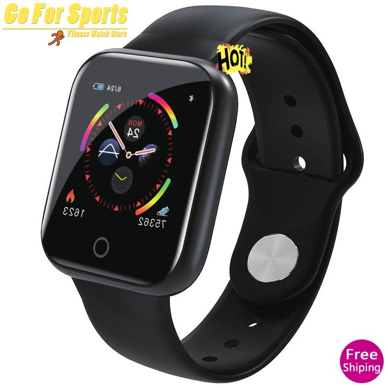 Reloj inteligente I5 Monitor de pulso cardíaco impermeable IP67 Monitor de Fitness presión arterial ciclismo Smartwatch para iOS Android pk KY108 A1
