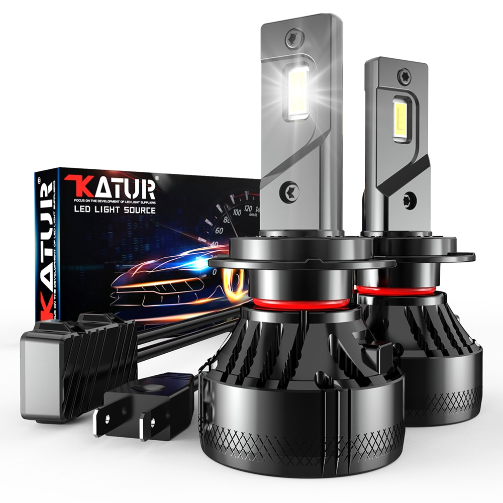 Katur-مصابيح أمامية LED ، مصابيح ضباب ، H4 ، H7 ، H1 ، 110W ، 20000LM ، H11 ، H8 ، 9005 ، 9006 ، 9012 ، H7