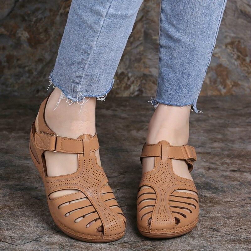 Tamaño 35-43 gancho y bucle Sandalias Zapatos De Mujer De moda para...