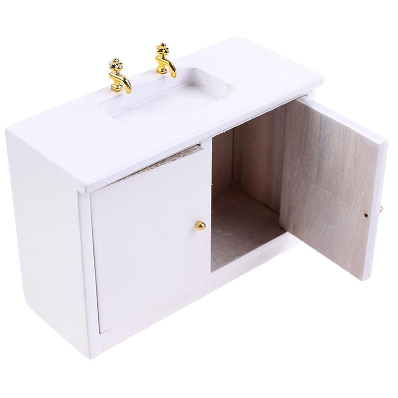 Gran oferta 1/12 casa de muñecas en miniatura lavamanos fregadero baño cocina muebles Accesorios