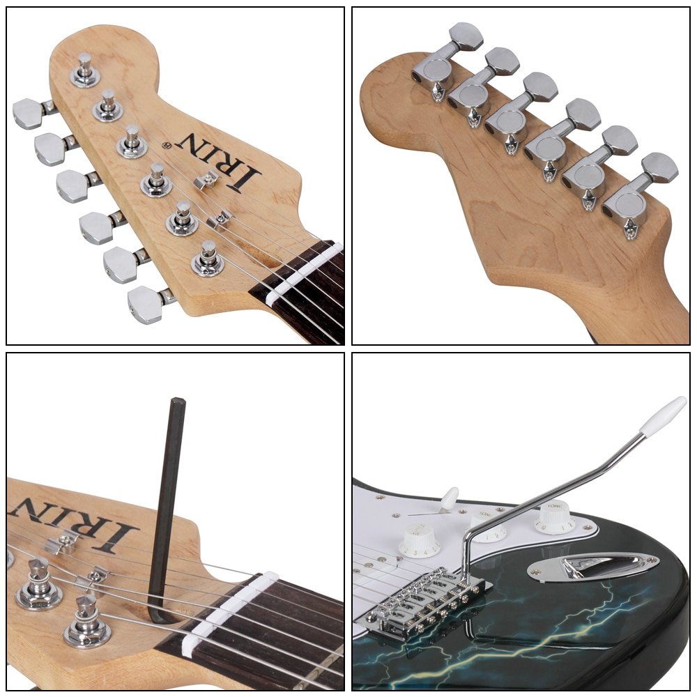 IRIN 21 Frets 6 Strings Electric Guitar Kit Solid Wood Body Maple Neck with Picks Speaker Necessary Guitar Parts & Accessories enlarge