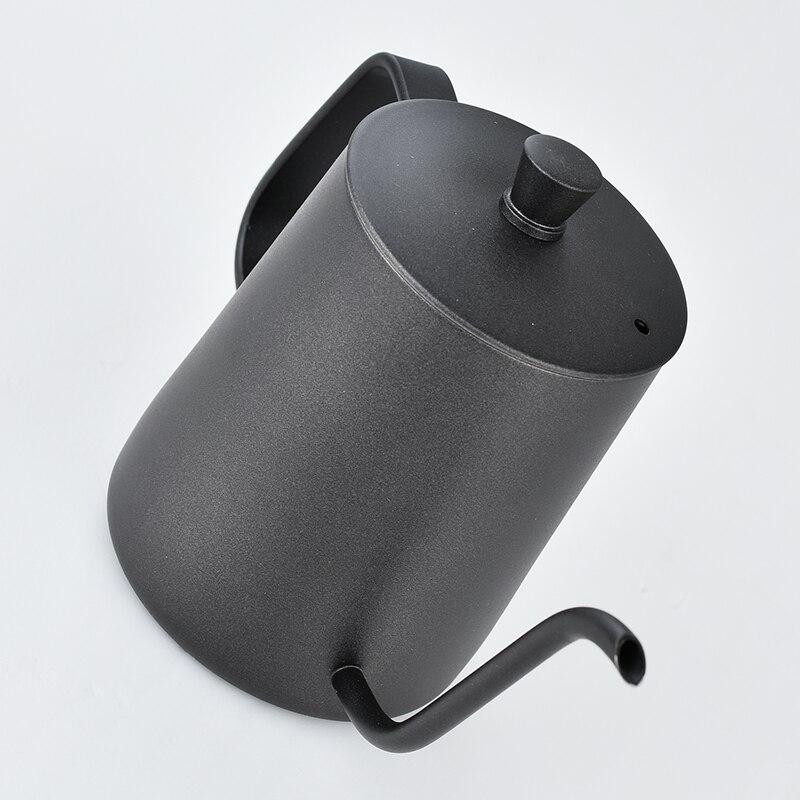 الفولاذ المقاوم للصدأ تصاعد قوس اليد لكمة أواني القهوة مع غطاء بالتنقيط Gooseneck صنبور طويل الفم غلاية قهوة TT-best