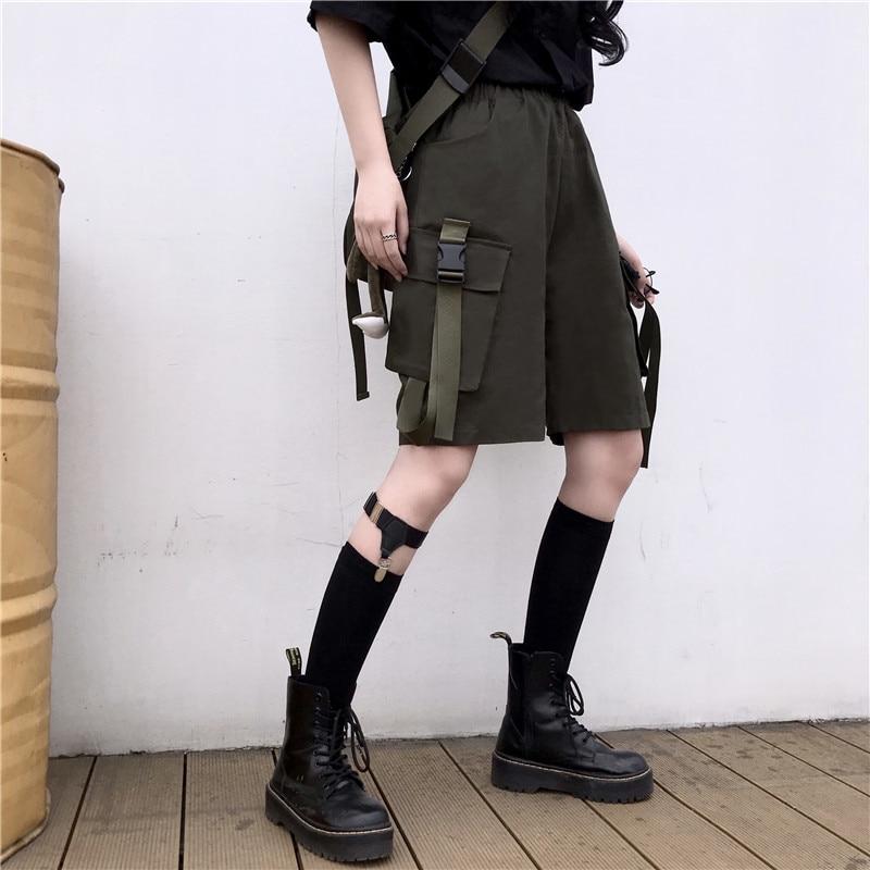Sakurada Kawashima Ins Korean Style Summer Internet Celebrity Harajuku Style Cargo Pocket Straight L