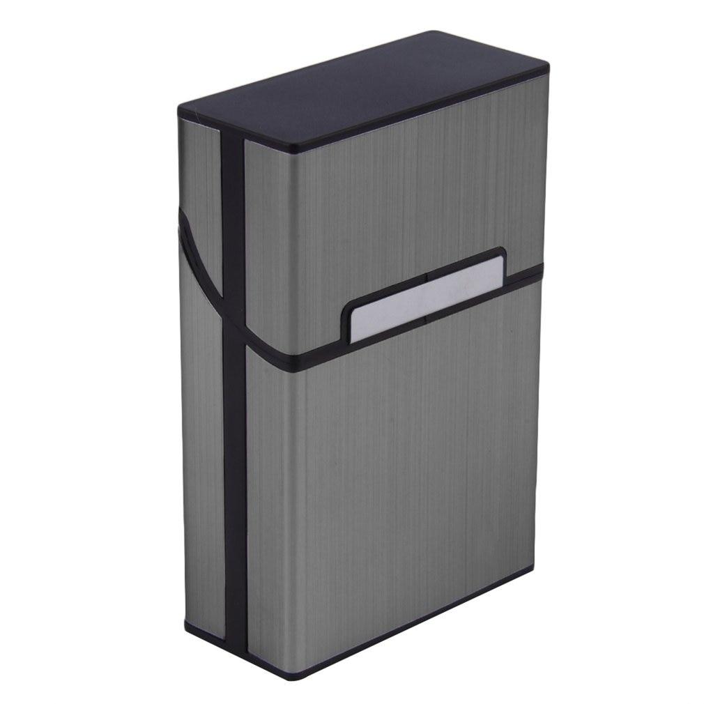 2021 Ultra Thin Fashion Pipe Home Use Light Aluminum Cigarette Case Tobacco Holder Pocket Box Storage Container Discount