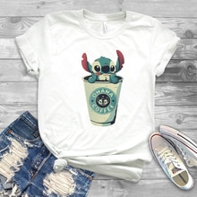 Nouveau drôle Ohana café chemise Humor point graphique T-shirt mignon Lilo et point Ohana signifie t-shirts de famille