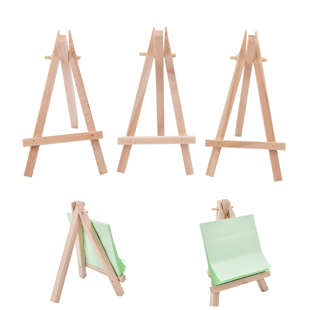 1Pcs Wooden Mini Artist Easel Wood Wedding Table Card Stand Display Holder For Party Decoration 12.5x7cm kicute wood artist easel wedding table number place name card photos stand display holder diy party table tools