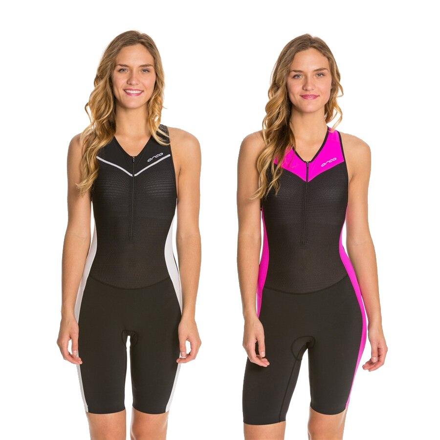 Orca-traje de triatlón sin mangas para mujer, ropa de Ciclismo personalizada, Maillot...