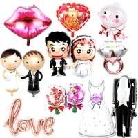 1pc bride groom wedding favors foil balloons anniversary baloon valentines day event party decorations adult toy