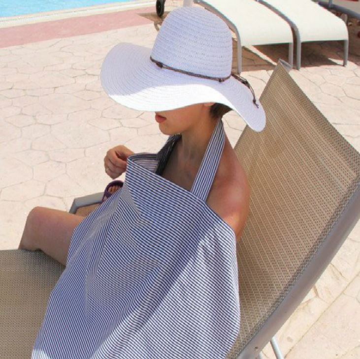 Cubierta de lactancia materna 100% algodón transpirable alimentación de bebé maternidad manta toalla