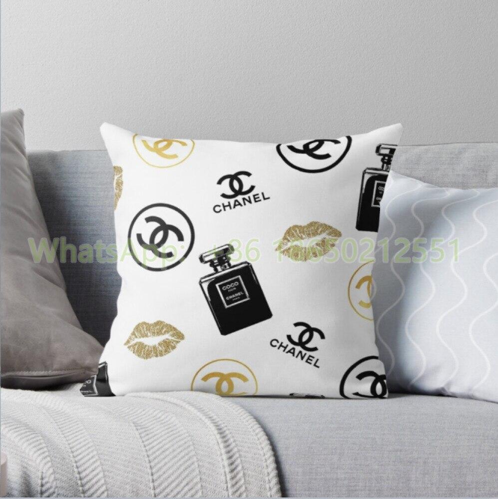 Chanels Kissenbezug Sofa Kissen Kissen Abdeckung 45X4 5cm/55X55cm