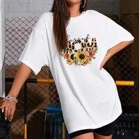leopard print dress mini women loose summer t shirt dresses korean short sleeve casual streetwear pullover dress 2021