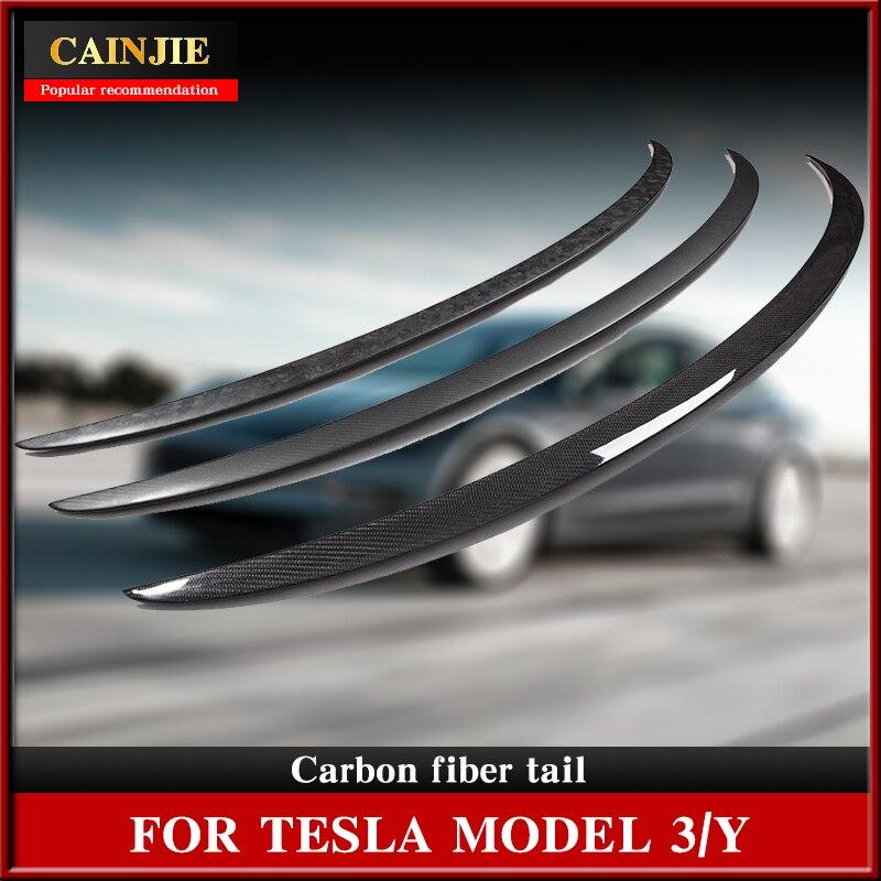 Спойлеры для крыльев БАГАЖНИКА АВТОМОБИЛЯ, спойлер для крыла Tesla модели Y 2021, аксессуары, спойлер из углеродного волокна для заднего крыла, р...
